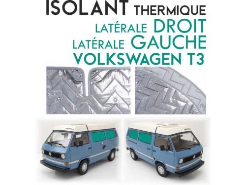 Isolant thermique Volkswagen T3 de 1979-90 en 4 parties (salon) à empattement court