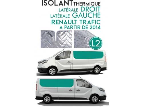 Isolant thermique alu Renault Trafic à partir de 2014. Espace arrière L2