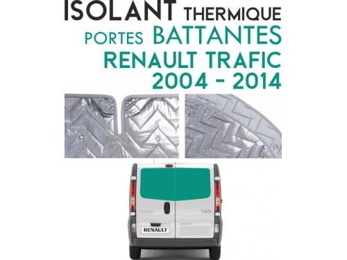 Isolant thermique alu Renault Trafic 2004 à 2014 Portes battantes arrières