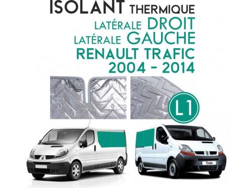 Isolant thermique alu Renault Trafic 2004 à 2014. Espace arrière L1