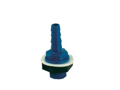 Raccord d'eau droit – Diamètre 10 et 12 mm plastique bleu